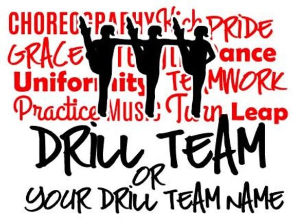 Drill team dance team custom vinyl car window decal sticker from vinylvariationstexas on etsy studio