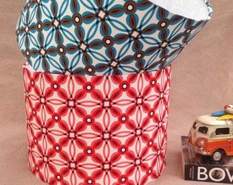 Retro Geometric Lampshade 40cm 30cm 20cm in Red or Blue