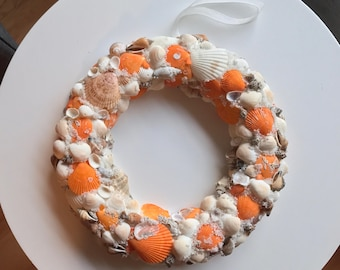 Beach Wreath Seashell Wreath Shell Wreath  Nautical Decor