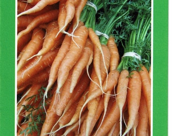 Carrots at the Farmer's Market with quote by Thich Nhat Hanh - photo card