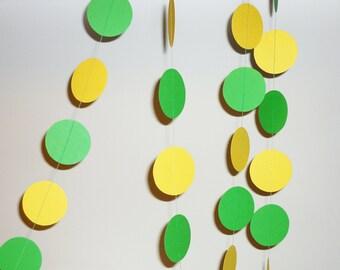 SALE Green yellow lemon paper garland birthday garland confetti decoration brasil greenery rio olympic brazil