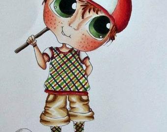 INSTANT DOWMLOAD Digital Digi Stamps Big Eye Big Head Dolls Digi Img579 Best Besties Forever By Sherri Baldy