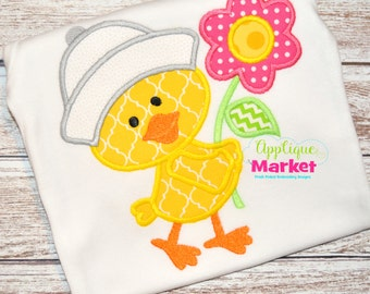 Machine Embroidery Design Embroidery Duck Flower Applique INSTANT DOWNLOAD
