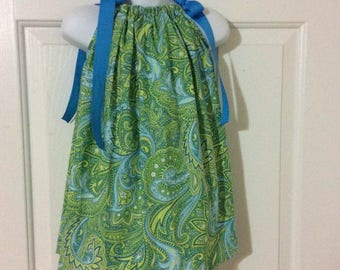 Green Paisley Pillowcase Dress Size 2T