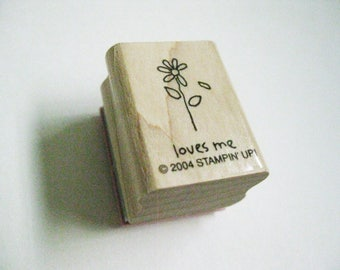 Loves Me Anniversary Invitation Quotation Papercraft Stamp Stampin Up Rubber Stamp Wood Mount Craft Card Making Stamping Supply Craft Stamp