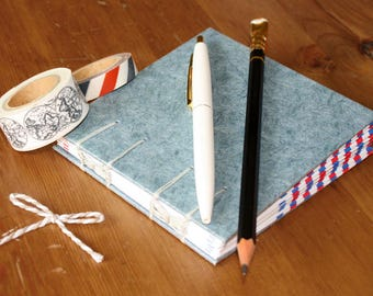 Coptic Stitch Envelope Journal with Bows