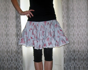 Silky Blue Tutu Skirt Small Medium by Vicmes Clothing