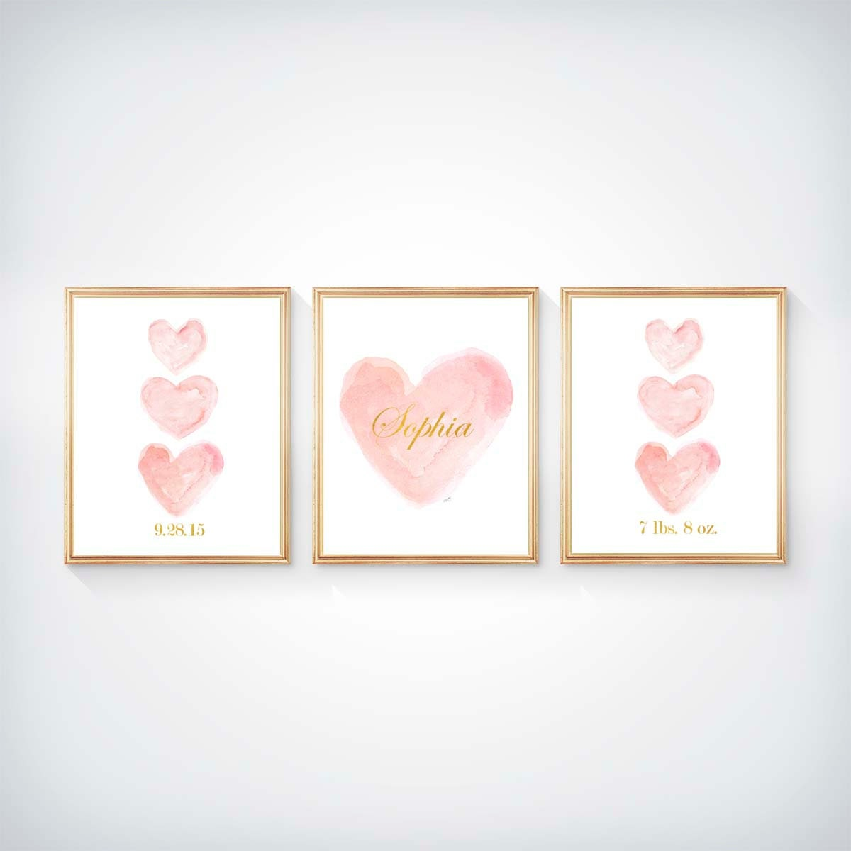 Blush Nursery With Neutral Textures: Blush Prints Nursery Wall Art Blush Nursery Blush And Gold