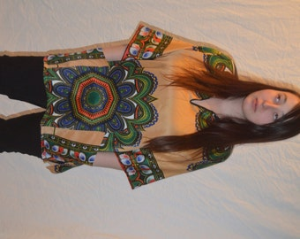 Vintage Hippie Boho Pullover Top / Tunic