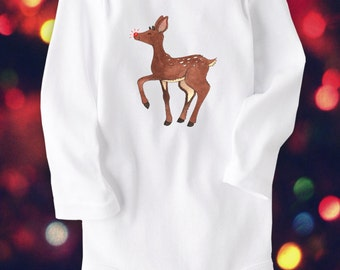 Rudolph Reindeer, Cute Baby clothes, Unique Baby Clothing, Christmas Gift, Christmas clothes, Holiday, Santa, Xmas, Christmas outfit