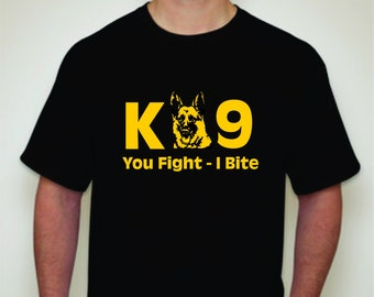 K-9 T-shirt- Police Dog T-shirt-Search & Rescue-