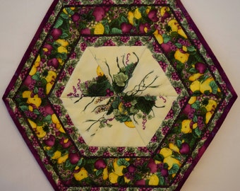 Quilted Purple Table Mat