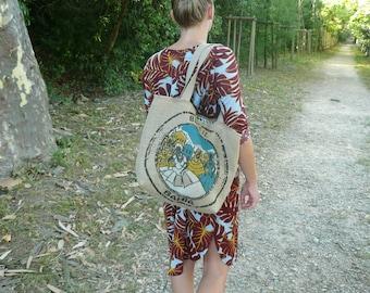 Handbag // shopping bag // coffee bag // burlap // beach bag