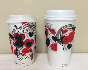 Coffee cozies/coffee sleeve (set of 2)