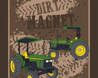"""Dirt Magnet cotton panel -- approximately 35"""" x 44"""""""