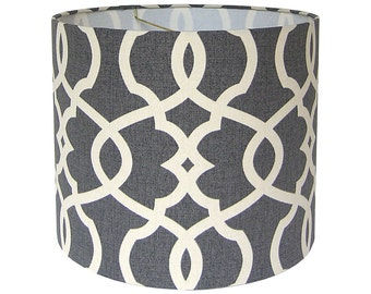 Lamp Shade Lampshade Emory by Magnolia Home Fashions in Pewter Made to Order