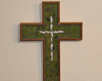 Baptism Gift / First Communion Gift / Wooden Cross / Mosaic Cross / Christian Gift / Mother's Day Gift / Wall Cross / Religious Gift