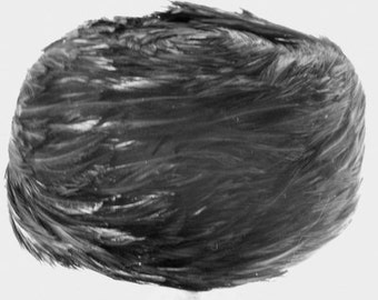 Black feather Pillbox hat