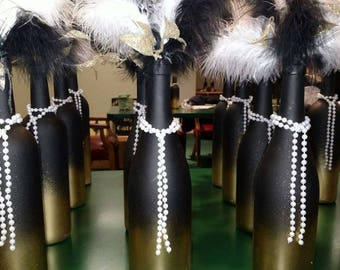 4 Great Gatsby Themed Wine Bottles