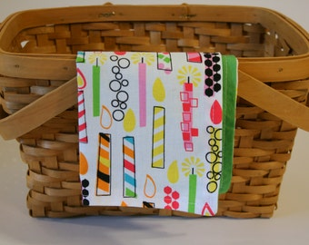 Birthday Cloth Napkin for Kids | Snack mat - Candles