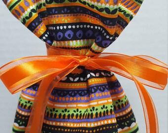 Wine Bottle Gift Bag Halloween Stripes