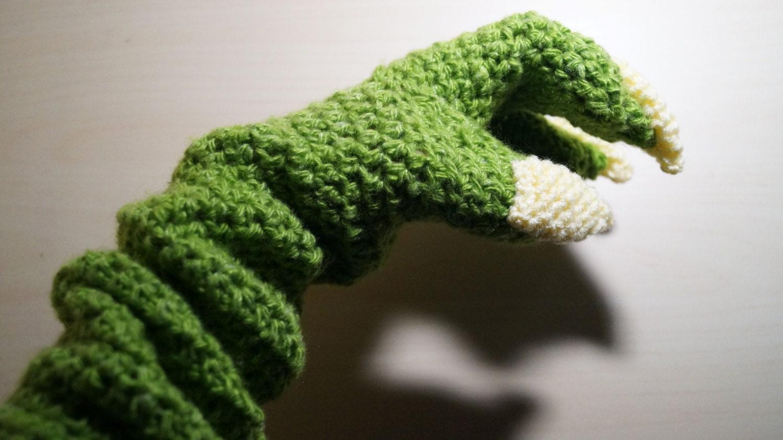 Yoda Hooded Scarf Pattern PDF + Yoda Gloves Long Pattern, Star Wars ...