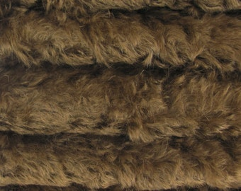 Quality 785S/C - Mohair - 1/6 yard (Fat) in Intercal's Color 350S-Antique Brown. A German Mohair Fur Fabric for Teddy Bear Making & Crafts