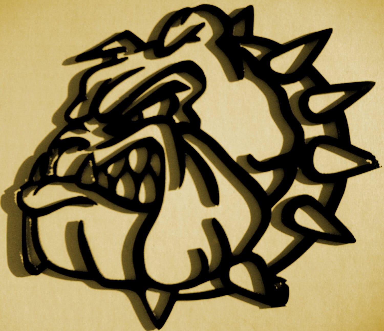 Bulldog Silhouette Metal Art Wall Decor Wall Decor