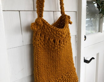 Knitted Bag, Summer knitted Boho Bag, Purse, Over The Shoulder Purse or Crossbody Bag, Knitted Purse
