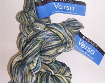 Berroco Versa Green Olive Lime Multi color Cotton Blend Yarn 2 skeins #3675