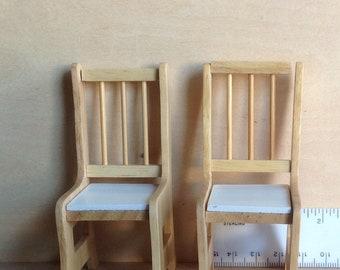 Dollhouse Miniature Chairs