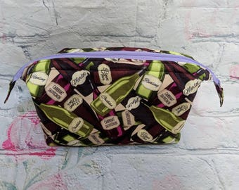 Wine Time Retreat Toiletry bag traveling case or organizing pouch