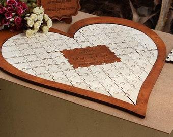 Wedding Guest Book, Wedding Guestbook, Wedding, Custom GuestBook, Personalized GuestBook, Wedding Guest Book Puzzle