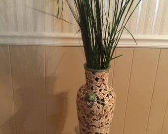Artistic ceramic vase.