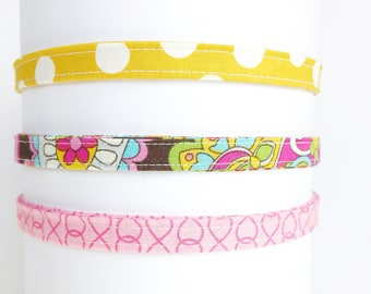 Headband for women | Pink and Mustard Yellow Adjustable Headband-Gift for Her- Under 10 gift