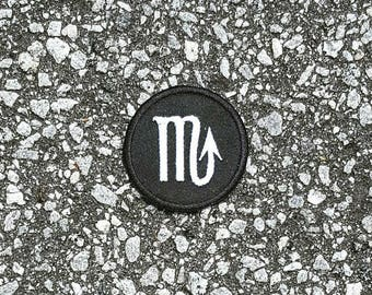 Scorpio Zodiac Sign Embroidered Sew On Iron On Patch DIY Astrology