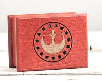 Star Wars soundtrack cover and design inspired handmade wooden music box - The Force Theme