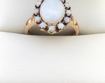 Gorgeous Natural Opal Statement Ring