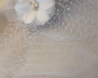 Schönen Kopfschmuck Schleier für die Braut, Kamm Silber Metall