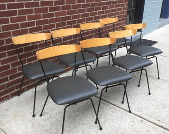 Clifford Pascoe Vintage Chairs Paul McCobb style Set of 8 Mid Century Modern