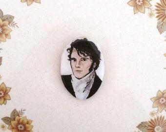 Wearable Art Brooch: Mr Darcy