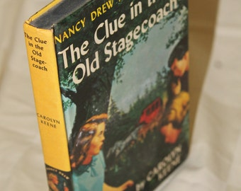 Vintage Nancy Drew - The Clue in the Old Stagecoach #37 by Carolyn Keene