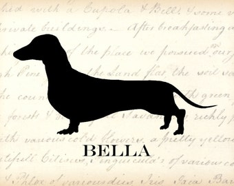 Dachshund 8 x 10 Personalized  Art Print