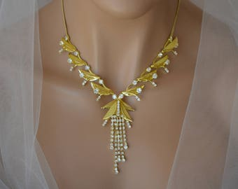 Gold jewelry set Etsy