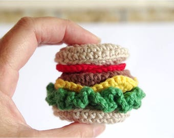 """Crochet """"Burger with the Lot"""""""