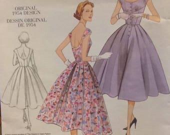 Vogue #V2960 - Original 1954 Design - Special Occasion Dress - Sizes 12-18 - Paper Pattern