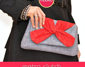 Metro Clutch PDF Downloadable LITE Pattern Tutorial by MODKID - Instant Download