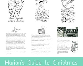 eZine: Digital Download of Marian Elizabeth's Guide to Christmas - DIY download art zine of stories and illustrations about xmas and family