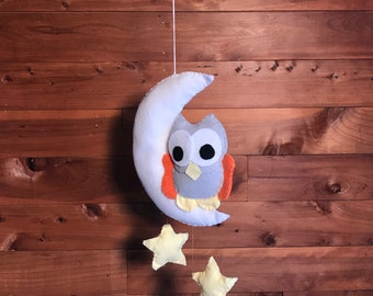 Sleepy Owl Baby Mobile