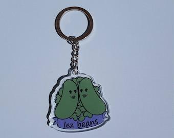 Lez Beans Keychain
